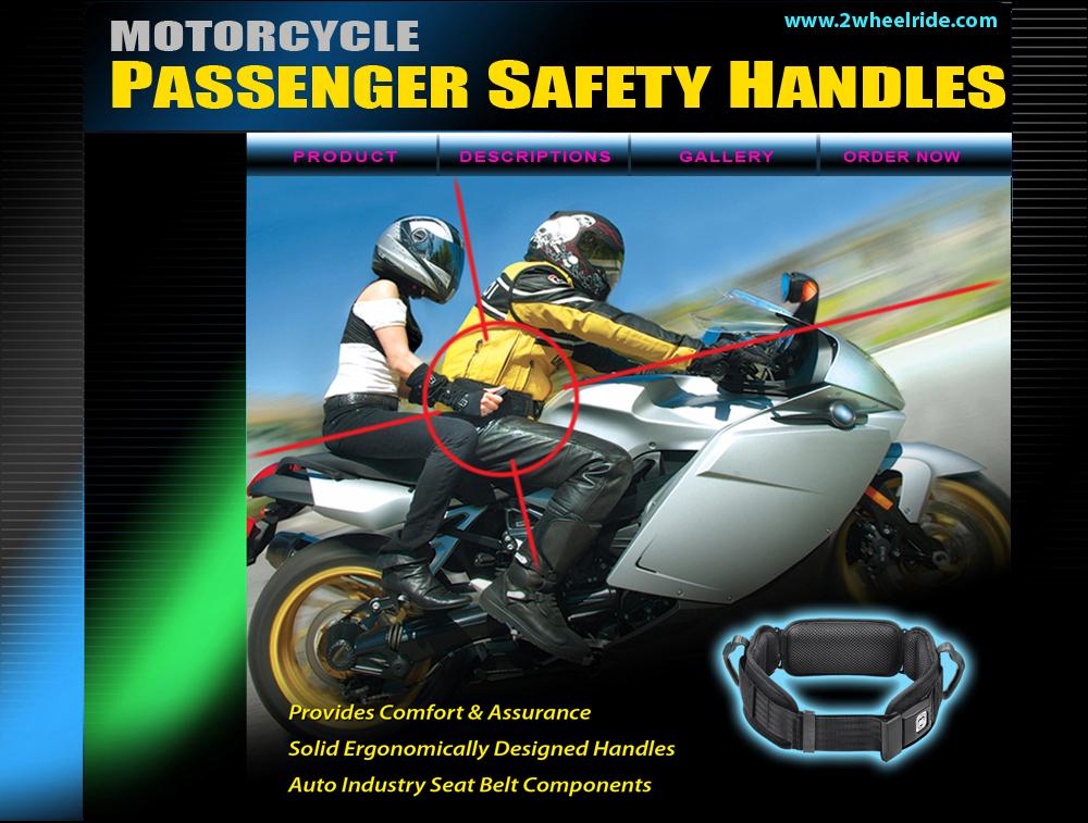 motorcycle passenger belt